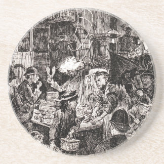 Saturday Night In The East End Drink Coaster