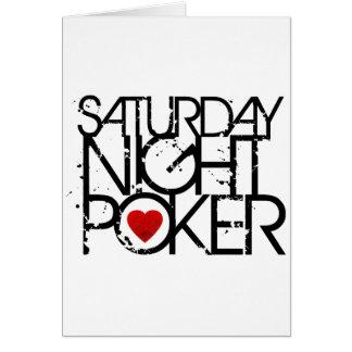 Saturday Night Poker Card