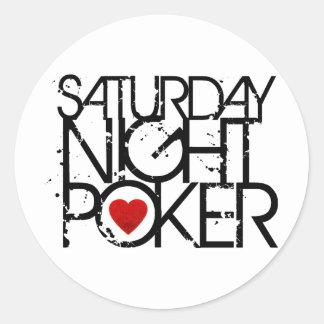 Saturday Night Poker Classic Round Sticker