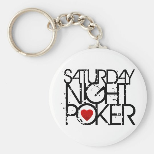 Saturday Night Poker Keychain