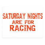 Saturday Nights Are For Racing Postcard