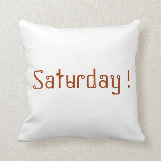 Saturday pillow