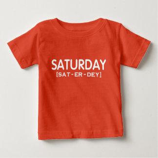 SATURDAY [SAT-ER-DEY] Fun Graphics TEE