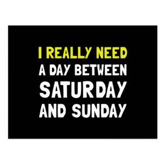 Saturday Sunday Postcard