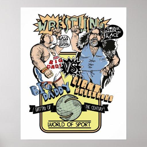 Saturday Wrestling Print