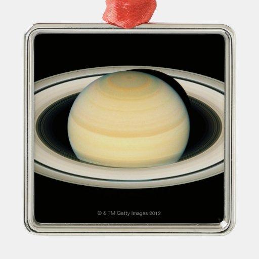 Saturn 2 metal ornament