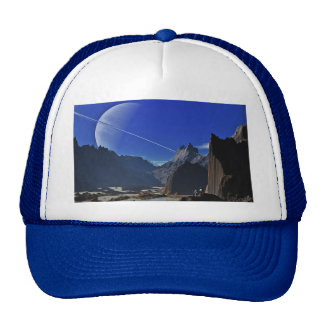 saturn-341379 FANTASY SCIENCEFICTION STARSCAPES AL Trucker Hats