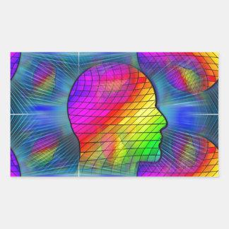 saturn-341379 FANTASY SCIENCEFICTION STARSCAPES AL Rectangular Sticker