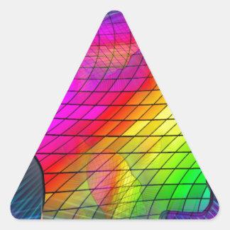 saturn-341379 FANTASY SCIENCEFICTION STARSCAPES AL Triangle Sticker