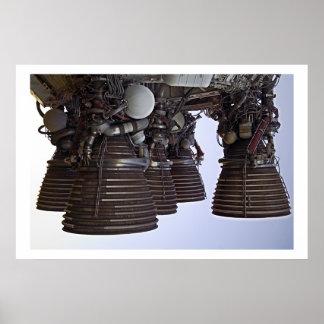 Saturn 5 motores póster