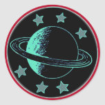 Saturn 6 - pegatina redonda