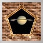 Saturn a través de la ventana - poster