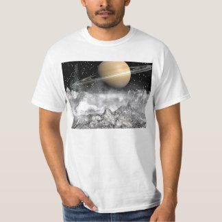 Saturn and Enceladus Tee Shirt