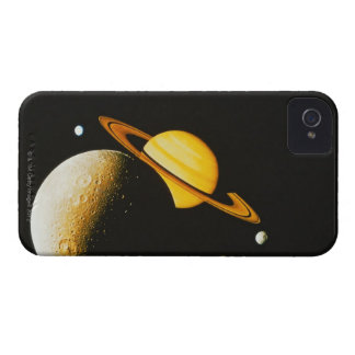 Saturn and Her Moons iPhone 4 Case-Mate Case