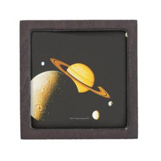 Saturn and Her Moons Keepsake Box