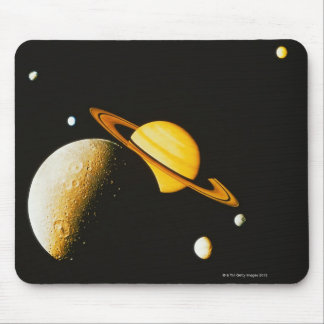 Saturn and Her Moons Mouse Pad