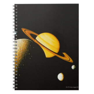Saturn and Her Moons Notebook