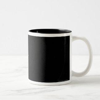 Saturn and Its Moons Two-Tone Coffee Mug