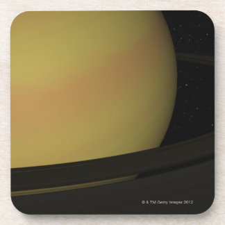 Saturn and its Rings Drink Coaster