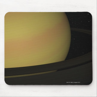 Saturn and its Rings Mouse Pad