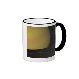 Saturn and its Rings Ringer Coffee Mug