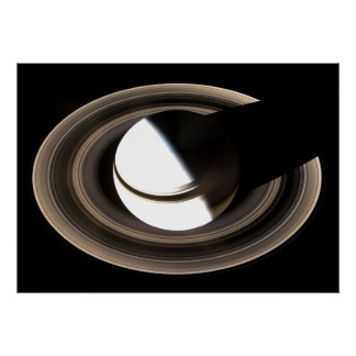 Saturn and its rings. poster