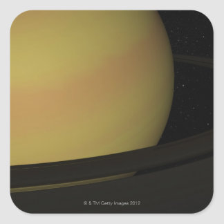 Saturn and its Rings Square Sticker