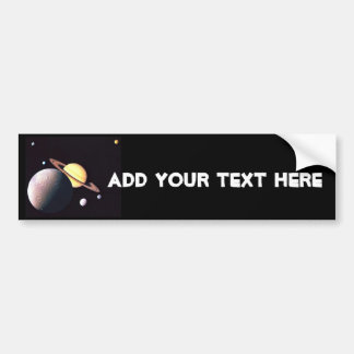 Saturn And Moons Car Bumper Sticker
