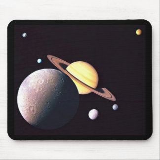 Saturn And Moons Mouse Pad