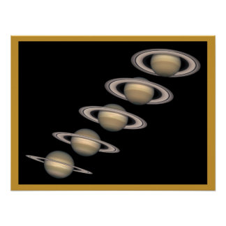 Saturn and Rings Poster