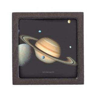 Saturn and satellites jewelry box
