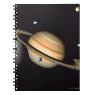 Saturn and satellites notebooks