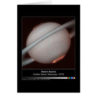 Saturn Aurora Hubble Telescope Photo Card