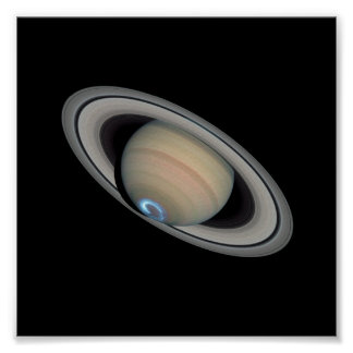 Saturn Aurora Poster