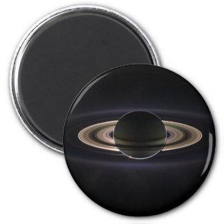 Saturn backlit 2 inch round magnet
