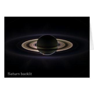 Saturn backlit card