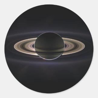 Saturn backlit classic round sticker