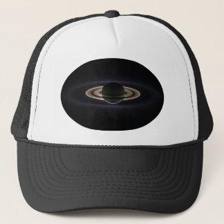 Saturn backlit trucker hat
