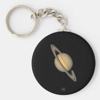 Saturn Basic Round Button Keychain