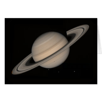 Saturn by Voyager 2 Card