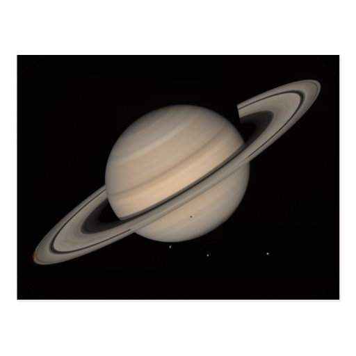 Saturn by Voyager 2 Postcard