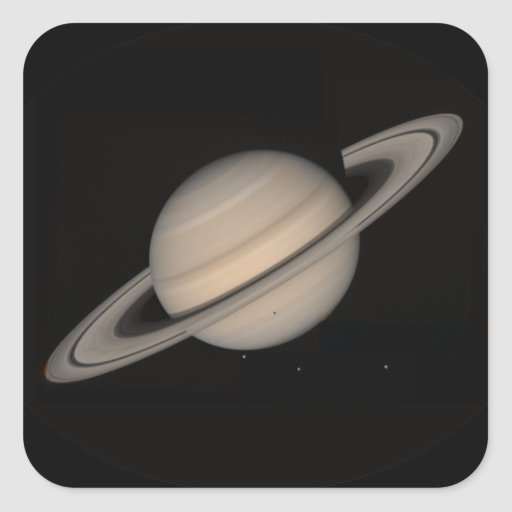 Saturn by Voyager 2 Square Sticker