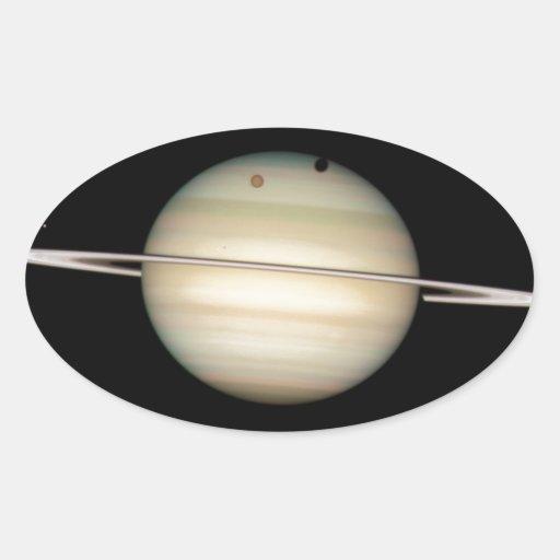 Saturn Calcomanías Ovales Personalizadas