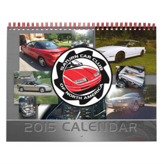 Saturn Car Club Custom Printed Calendar
