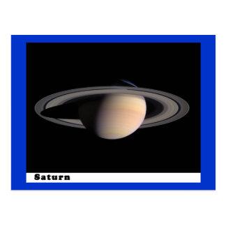 Saturn con los anillos tarjetas postales