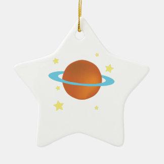Saturn Adorno De Cerámica En Forma De Estrella