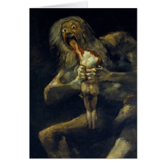 Saturn Devouring His Son by Francisco de Goya Card