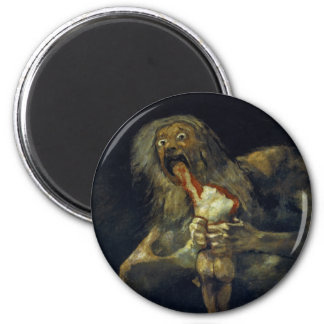 Saturn Devouring His Son by Francisco de Goya Magnet