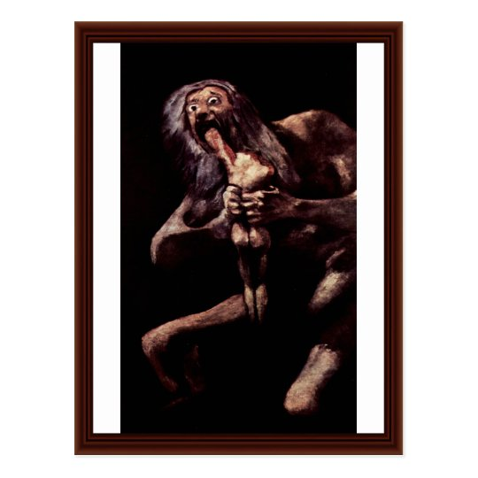 Saturn Devouring His Son From The Pinturas Negras Postcard