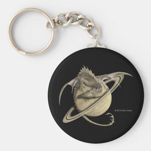 Saturn Dragon Keychain